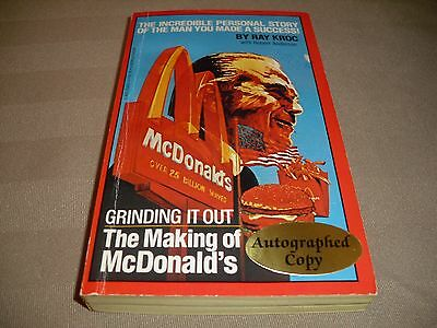 Ray Kroc Of Mcdonalds Fame Autographed Book......