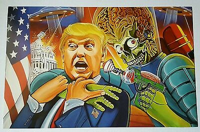 "Mars Attacks President Donald TRUMP Occupation Heritage Homage POSTER 11""x17"""