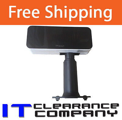 New TYSSO VFD-950 Customer Display Pole Display Unit Dual Line Adjustable Stand