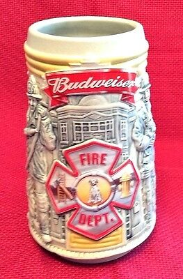 Budweiser 'Honor and Courage' Firefighters Stein 2001 LTD Edition  #36040 - New