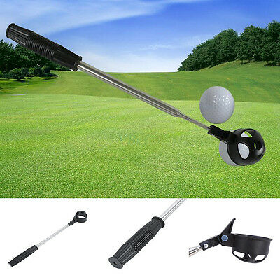 Golf Ball Retriever Telescopic Pick Up Scoop Shaft Stainless Steel Accessory AF