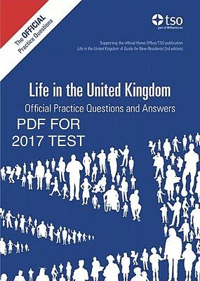 Life in the Uk Test practice question  2017 3rd edition (pdf)