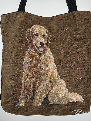 Golden Retriver  Dog Tapestry Tote by L. Picken USA