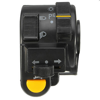 "7/8"" 22mm Left Motorcycle Handlebar Horn Turn Signals High/Low Headlight Switch"