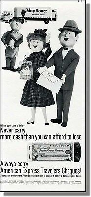 1961 Never Carry Money - American Express Print-Ad