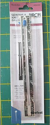 Sewing and Knitting Gauge / BIRCH / CM and Inches / Ruler