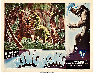 King Kong 11 X 14 Lobby Card LC  Fay Wray Bruce Cabot 1946 Re-Issue