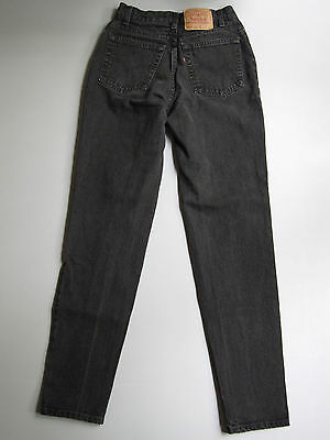 Vintage Levi's 512 High Waisted Mom Jeans Tapered Black 11 Denim 27""