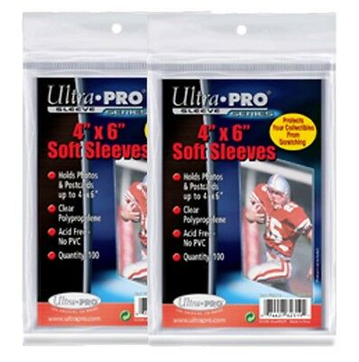 """Ultra Pro 4"""" x 6"""" Soft Sleeves protection for photos and postcards, 200 count"""