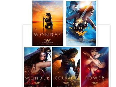 "WONDER WOMAN - Set of 5 - 11.5""x17"" Original Promo Movie Posters 2017 MINT DC"