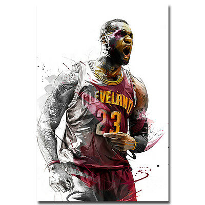 Lebron James Super Basketball Star Art Silk Poster Print 12x18 32x48inches