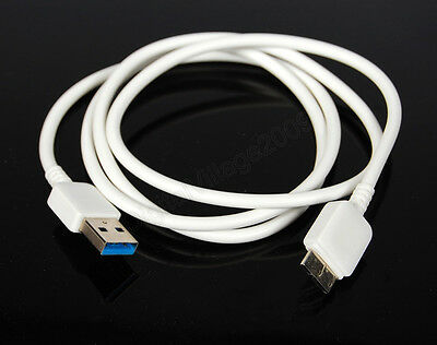Male to Male USB 3.0 Adapter Cable Cord Camera Data Sync Photo Transfer - WHITE