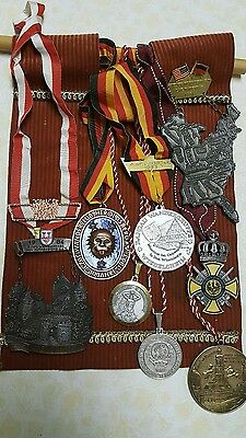 8 medals GERMAN/AMERICAN HEAVY ON TAPESTRY