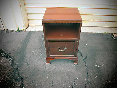 54874  Antique Mahogany Nightstand With Cabinet