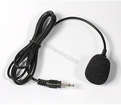 Mini Microphone w/1.15m Cable Cord 3.5mm Mono Audio Mic Plug Connector