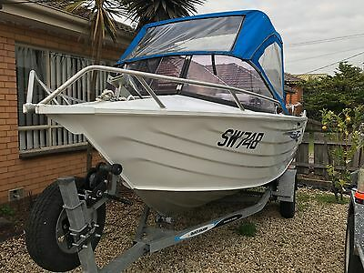 2008 Mercury Quicksilver aluminium boat, 60hp Mercury motor, Great fishing boat.