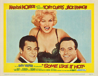 Some Like It Hot 11 X 14 Lobby Card LC Marilyn Monroe Jack Lemmon Tony Curtis