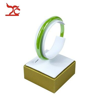 The Newest Golden White Jewelry Display Props C - Shaped Bangle Bracelet Stand