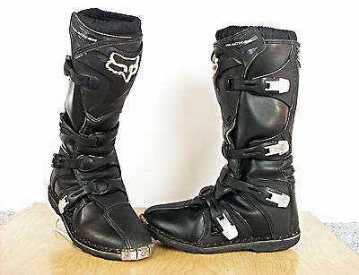 Fox Racing Tracker Motocross Dirt Bike Motorcycle Riding Boots Men Size 9