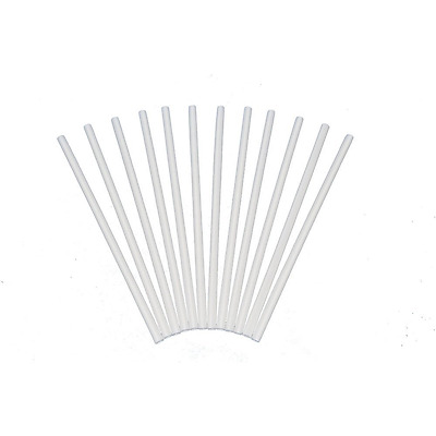 Plastic White Dowel Rods for Tiered Cake Construction, 12 Inch X 1/4, Pack of 12