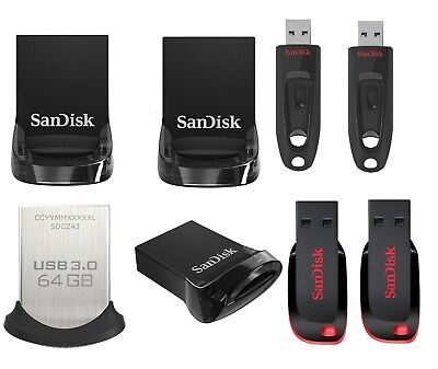 SanDisk 8GB 16GB 32GB 64GB 128GB 256G Cruzer Ultra Fit CZ43 CZ48 USB Flash Drive