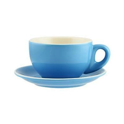 36x Large Cappuccino Cup & Saucer, Sky Blue 330mL, Rockingham, Restaurant / Cafe