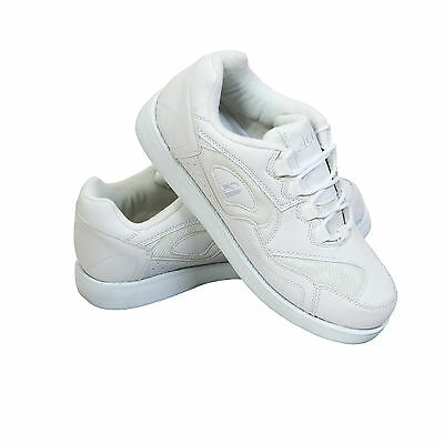 ACCLAIM Maestro Mens Lace Up Sports Trainer Style White Lawn Bowls Bowlers Shoes