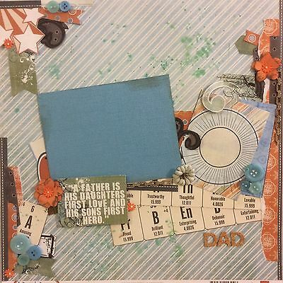 handmade scrapbook page 12 X 12 Father Themed Layout