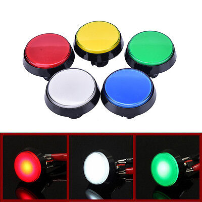 60mm LED Light Big Round Arcade Video Game Player Push Button Switch Lamp 7N