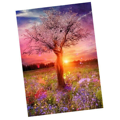 DIY Paint By Number Kit Digital Oil Painting Linen Canvas Artwork-Fairy Tree