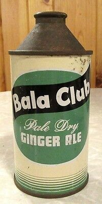 Early 1950's Bala Club Pale Dry Ginger Ale Cone Top Soda Pop Can