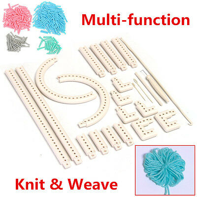 DIY Multi-function Craft Yarn 5000-100 Knitting Board Knit & Weave Loom Kit Tool