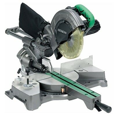 Hitachi C8FSE 216mm Slide Compound Mitre Saw 110v with 2 Sawblades