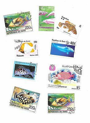 Fish on Stamps - Thematic Set - Used