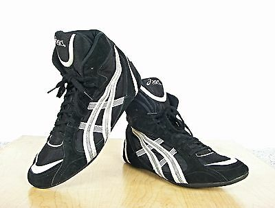 Rare Asics Leather Upper Wrestling Shoes Size 14 Excellent Condition