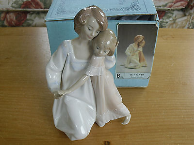 "Boxed Lladro ""Good Night""(5449) Mother & Child Figure -  7 7/8""( 20cm)"