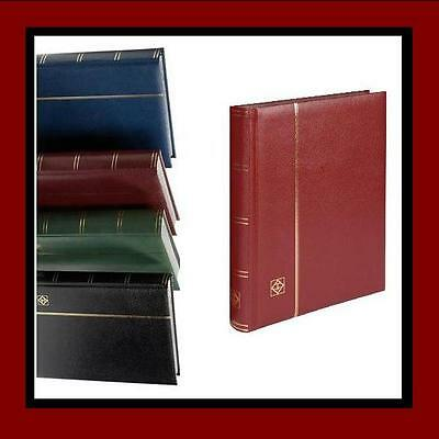 Lighthouse Basic Type Stockbook For Stamps 64 Black Pages, Red Colour
