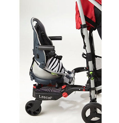 Brand new in box Revelo Buggypod perle clip on board & booster seat zebra