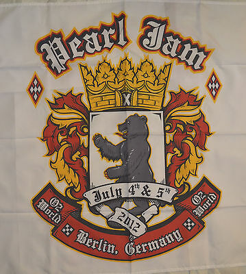 Pearl Jam Flag Berlin Germany 2012 July 4th & 5th 56inches not poster or T Shirt