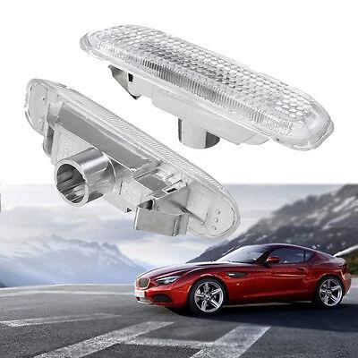 Pair Clear Side Marker Repeater Light Indicators Lamp For BMW 3 Series E46 98-04