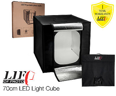 70cm Built-in LED Light Tent Cube All-in-One Still Life Product Photography UK