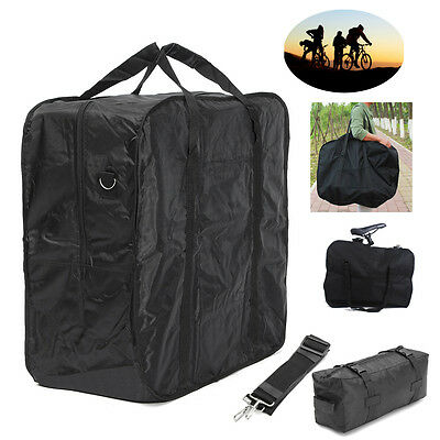 "Cycling Bicycle Folding Bike Carrier Bag Carry Bag 16""/20"" Double Pannier Bag"