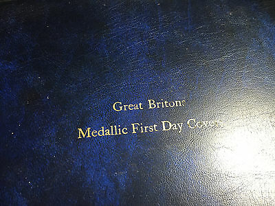 Great Briton Medallic First Day Cover folder - 4 Silver Medallions