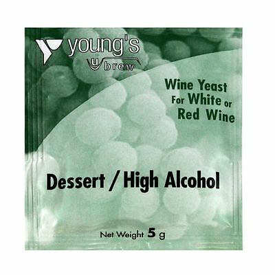 YOUNG'S 5g Dessert High Alcohol Wine Yeast - for 23L / 5 Gallons - Home Brewing