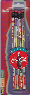 COCA COLA PENCILS (Pack of 4, New) (1995, Sawdust Pencil Company)