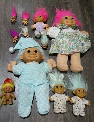 11 assorted TROLL DOLLS from The 1990s