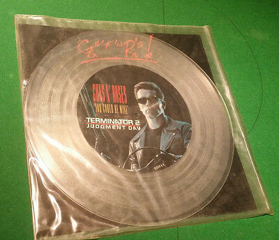 "GUNS N' ROSES You could be mine 12"" Clear Vinyl Picture Disc TERMINATOR 2 RARE"