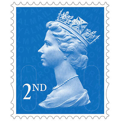 100 2nd Class Unfranked Stamps Off Paper ***Free Postage*** (F/V £56)