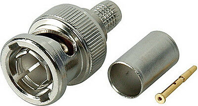 Kings 75 Ohm BNC Connector 2065-2-9 for 1505 Coax, box of 50