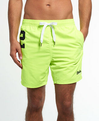 New Mens Superdry Miami Water Polo Shorts Cuba Green